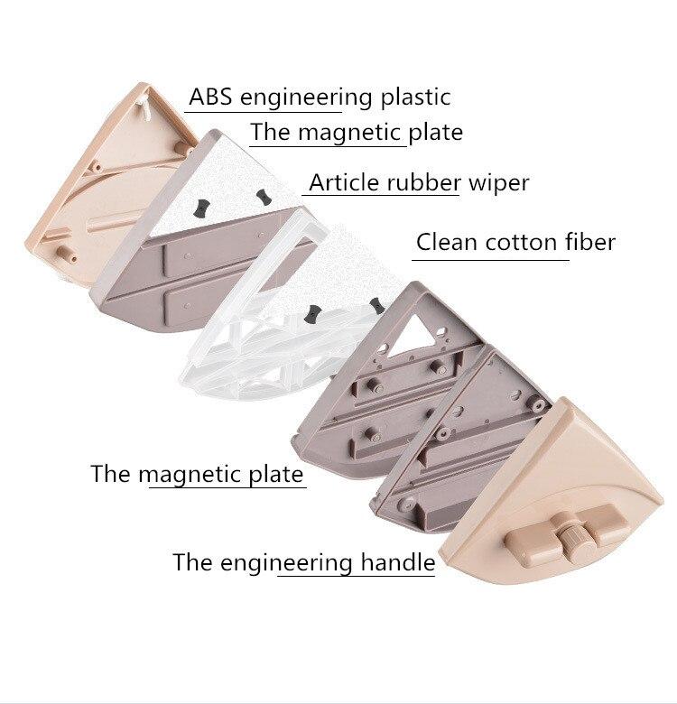 Домашний стеклоочиститель, щетка для чистки стекла, инструмент 3 35 мм, регулируемая двухсторонняя Магнитная щетка для мытья окон, щетка для мытья стекол, чистка - 4