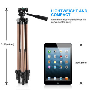 Image 3 - ユニバーサルポータブル三脚軽量カメラの三脚携帯電話プロ三脚用カメラスマートフォン