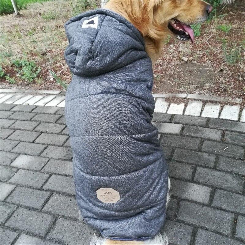 Dropwow Big Dog Coat Jacket Large Dog Clothes Winter Samoyed Golden