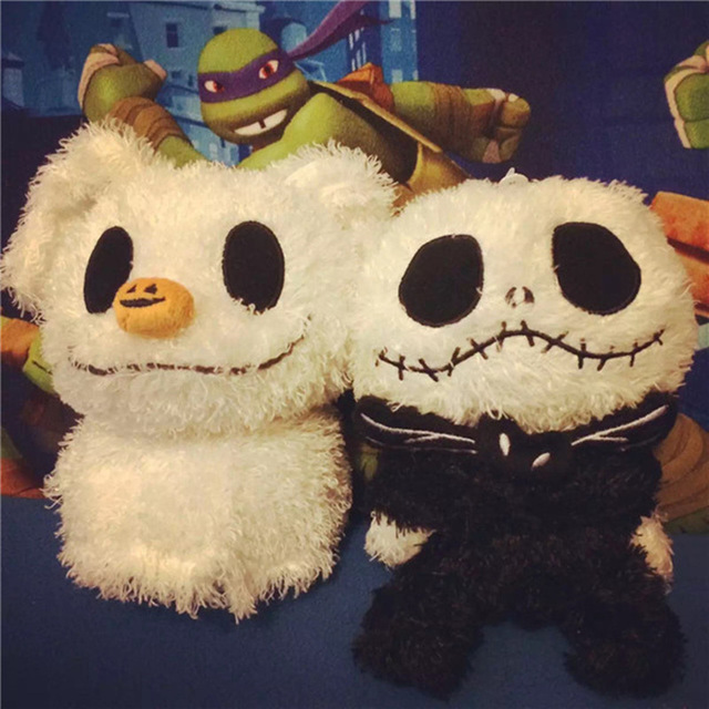 2pcs 20cm halloween the nightmare before christmas baby jack and zero dog cute plush stuffed soft