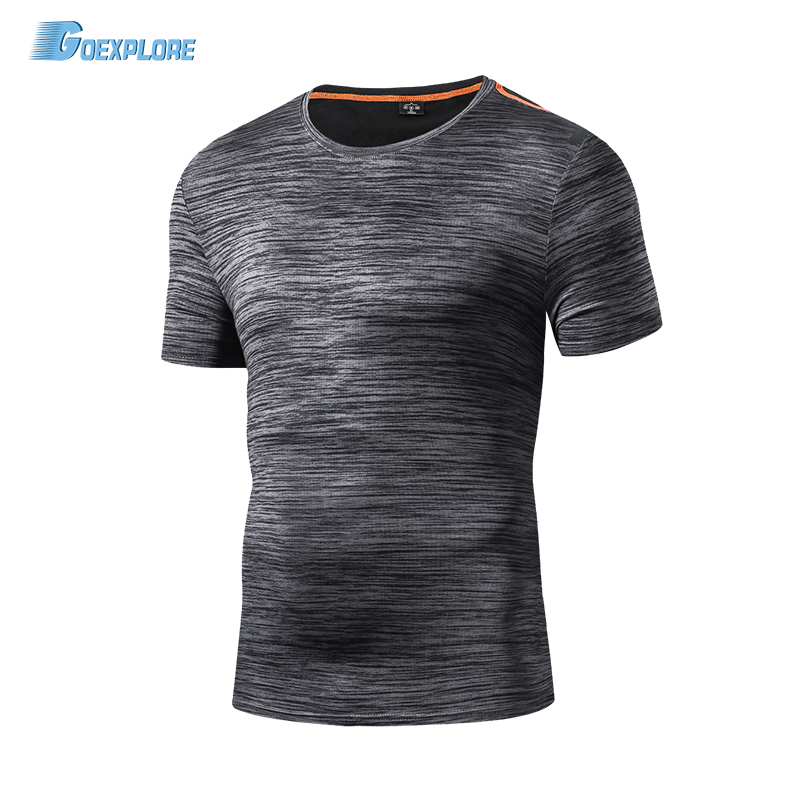 Goexplore Outdoors Running T-Shirts Summer Tops Slim Fitness Exercise Sport Breathable Absorb Sweat Quick Dry T shirt Men