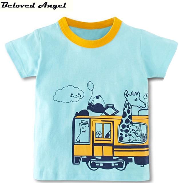 eb7ef031d729 Top Kids Boys Girls T shirts Creative Cartoon Summer Short Sleeve ...