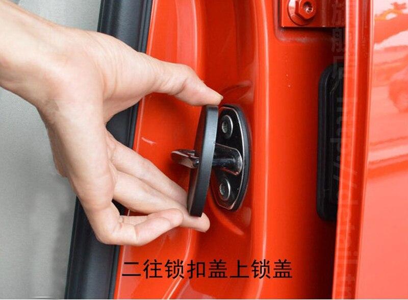 For Toyota Reiz Crown Corolla Puruis Yaris For Highlander Rav4 07-12 Fj150 Cruiser Camry 06-11 car Door Lock Cover car styling