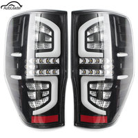 1 Pair LED Stop Working Lights Tail Rear Lamp Light Clear Read Turning Feature Fit for Ford Ranger PX Mk1/Mk2 XL XLS XLT 2011 up