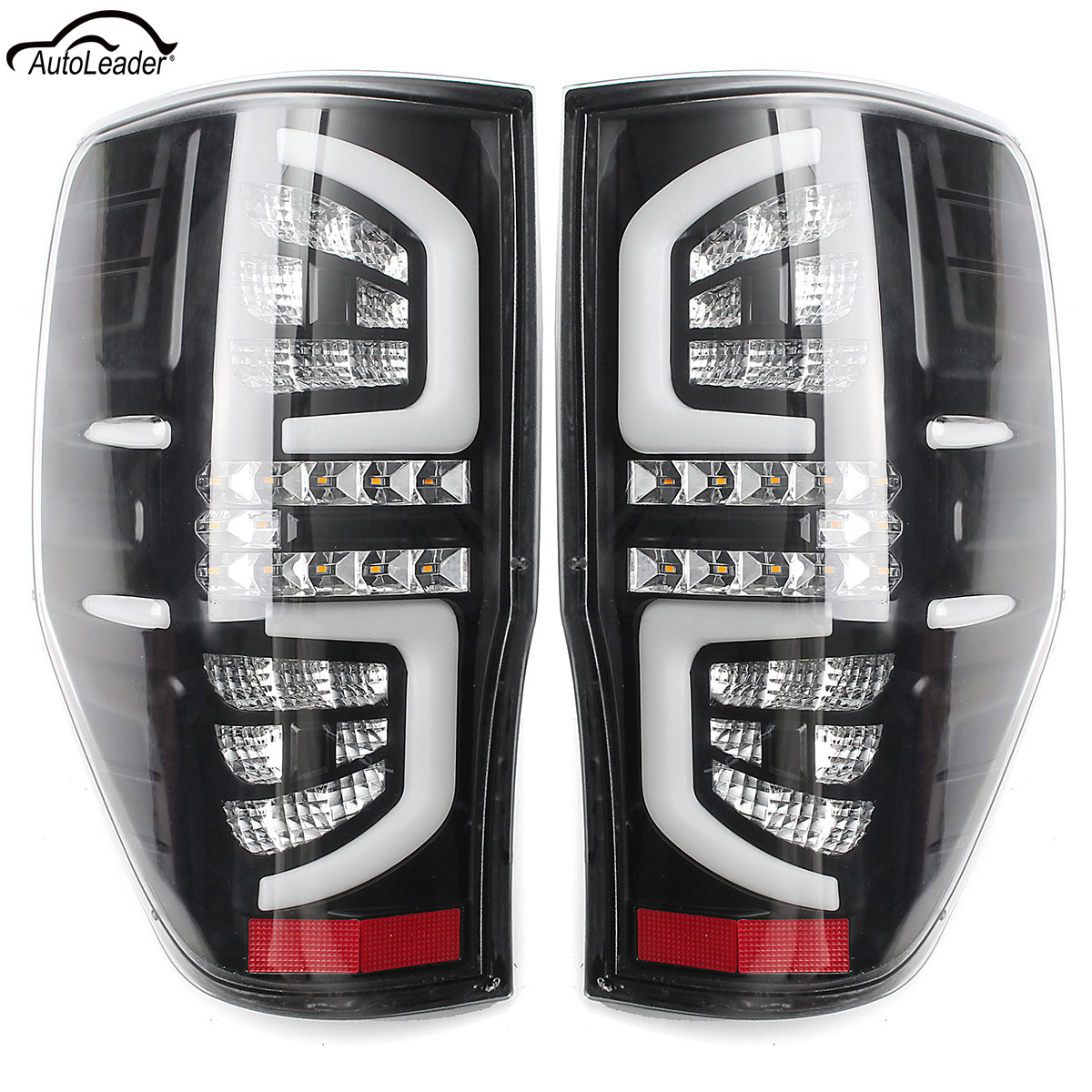 for Ford Ranger Tail Light 1 Pair LED Stop Working Lights Rear Lamp Clear Read Turning Feature Fit PX Mk1/Mk2 XL XLS XLT 2011-up 2 pcs pair inside tail lamp rear light inner for ford mondeo fusion 2011 2012