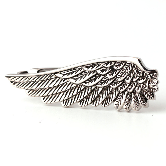 Angel Wings Black Tie Clip
