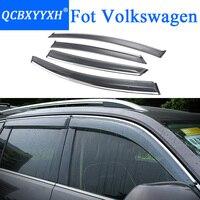 QCBXYYXH Car Styling Awnings Shelters Window Visors Rain Eyebrow For VW Polo Tiguan Golf Sportsvan Teramont