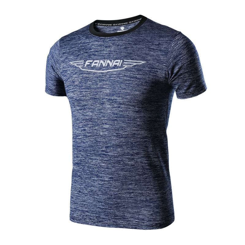 2017 Running t Shirt Men Quick Dry Breathable Short Sleeve Camping Fishing Outdoor Sports Hiking t-shirt Male