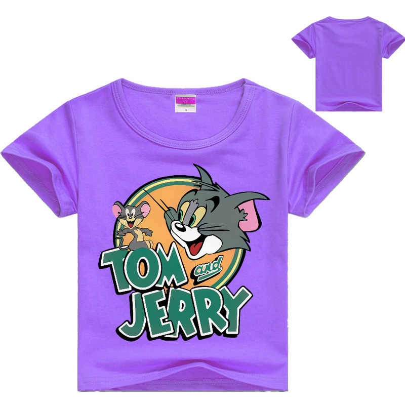 a89e173c ... 2018 Children Cartoon Tom and Jerry T Shirts Baby Boys Clothes Girls  Short Sleeve T- ...
