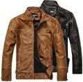 2016 chegada nova marca homens jaqueta de couro da motocicleta jaquetas masculinas, jaqueta de couro casaco Sobretudo frete grátis
