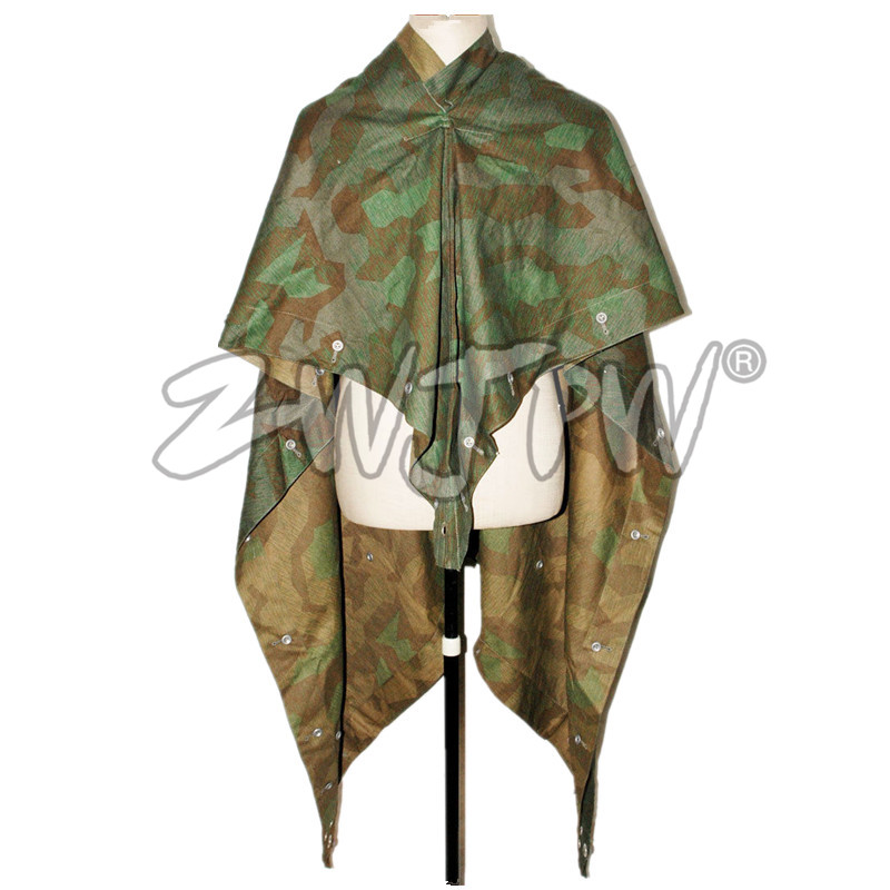 WWII WW2 Splinter Tent Army Military Outdoor Tactical Camo Poncho Raincoat DE/505112 tom clancy's splinter cell 3d