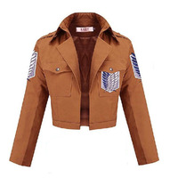 Anime Attack On Titan Jacket Shingeki No Kyojin Cosplay Jacket Eren 100 Cotton Scouting Legion COS