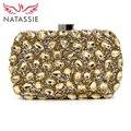 NATASSIE New 2017 Women Evening Bags Ladies Party Crystal Purses Female Multi Diamonds Clutch Bag