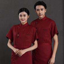 Chef Service Jacket Hotel Working Wear Restaurant Work Clothes Tooling Uniform Cook Tops Summer Breathable Overalls Wholesale free shipping work wear set male tooling uniform customize lf 102 long sleeve mechanic jacket and engineer jacket page 2