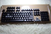 Прозрачный Колпачки Ключ Крышка Клавиши Logitech G710 для Механической Игровой Клавиатуры 104 Макет Черный Подсветка