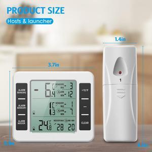 Image 5 - ORIA LCD אלחוטי דיגיטלי מדחום מקרר שלט רחוק מטבח טמפרטורת מדחום מקורה חיצוני עם מעורר