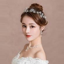 Romantic hair bands for women Bride hairband alloy flower crown party birthday vacation wedding hairwear girls hair accessories недорого
