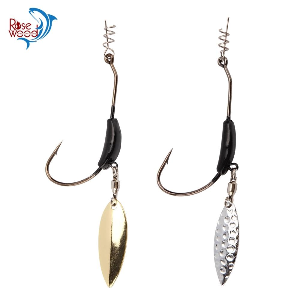 1Pc Jig Lead Head Hook Sharp Fishhook Spoon Spinner Carbon Steel Gold Sliver New