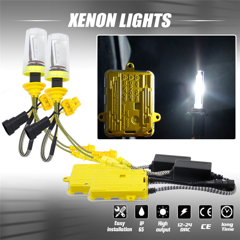 2pcs 55W Car Auto Head Lamp Bulbs H1 H4 H7 H8/H9/H11 9005 9006 For HID Xenon Headlight Conversion KIT Light Bulbs 6000K DC12V 2 pcs h7 6000k xenon halogen headlight head light lamp bulbs 55w x2 car lights xenon h7 bulb 100w for audi for bmw for toyota