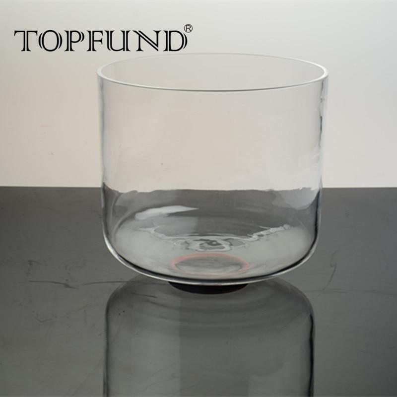 "TOPFUND D# Note Clear Quartz Crystal Singing Bowl 8"" ,O ... Quartz Crystal Bowls"