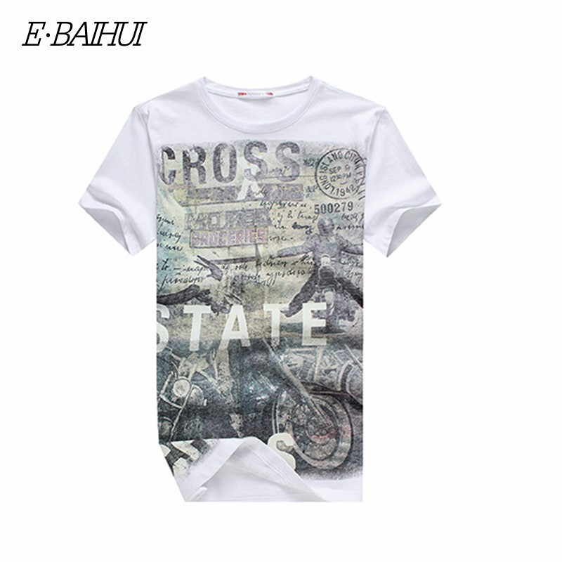 E-BAIHUI Summer Men Cotton Clothing Dsq T-shirtS Camisetas t shirt Fitness tops TeeS Skateboard Moleton mens t-shirts Y032 8