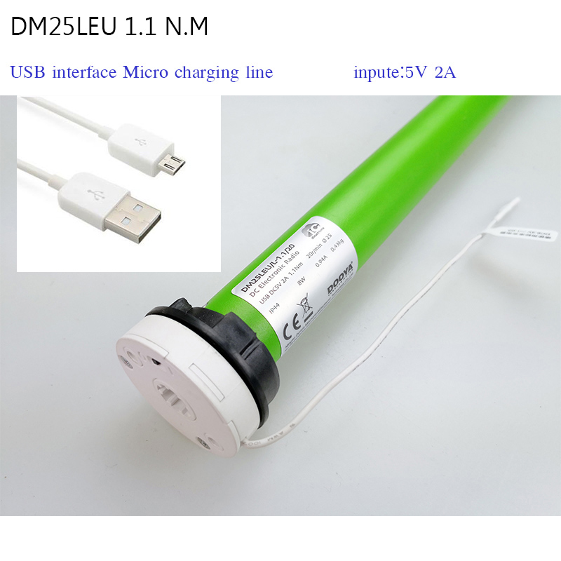 DOOY motor DM25LE 1 1 N m input 5V 2A USB Micro interface fit for 38mm