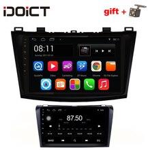 IDOICT Android 7,1 dvd-плеер автомобиля gps навигации мультимедиа для MAZDA 3 Радио 2008 2009 2010 2011 2012 2013 WI-FI bluetooth