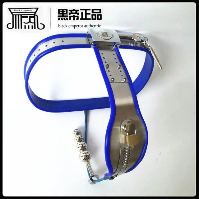2 pcs/set Chastity belt female stainless steel+anal plug with Steel wire blue bdsm bondage restraints female chastity belt 2 pcs/set Chastity belt female stainless steel+anal plug with Steel wire blue bdsm bondage restraints female chastity belt