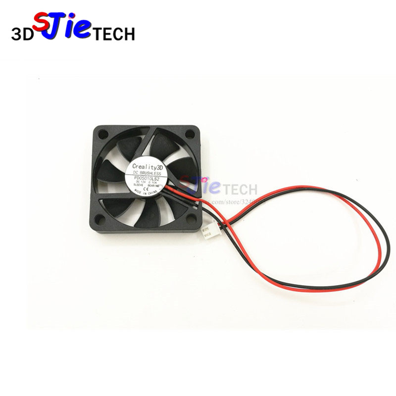 Creality 3D printer parts 2Pin 50mm 5cm Industrial Cooling Fan 12V <font><b>5010</b></font> Oil bearing For Creality CR-10 3D Printer image