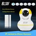Home Baby Monitor P2P IP Камера + Датчик Сигнализации Двери Датчик-мегапиксельной Full HD Главная Сигнализация Wi-Fi CCTV Камеры Безопасности BW12Y