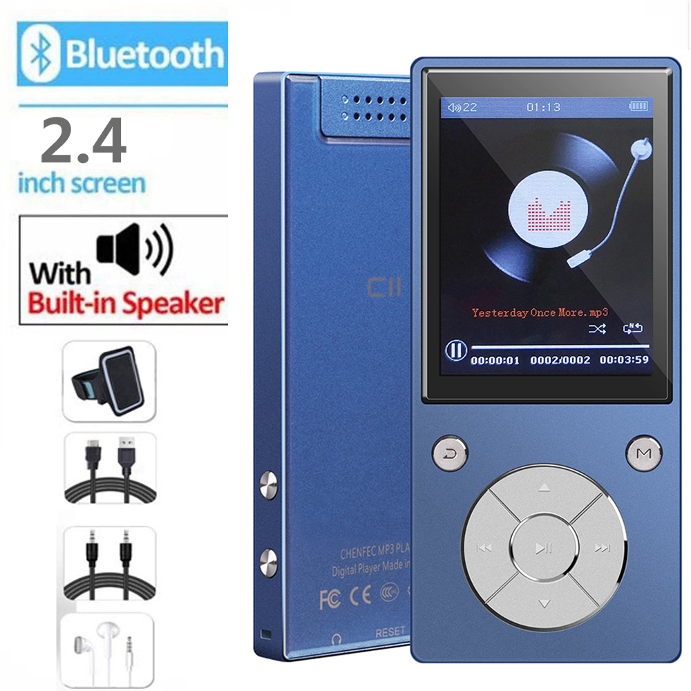 MP3 Player Bluetooth4 2 Lossless Music Player Built in Speaker with 2 4 inch Color Large