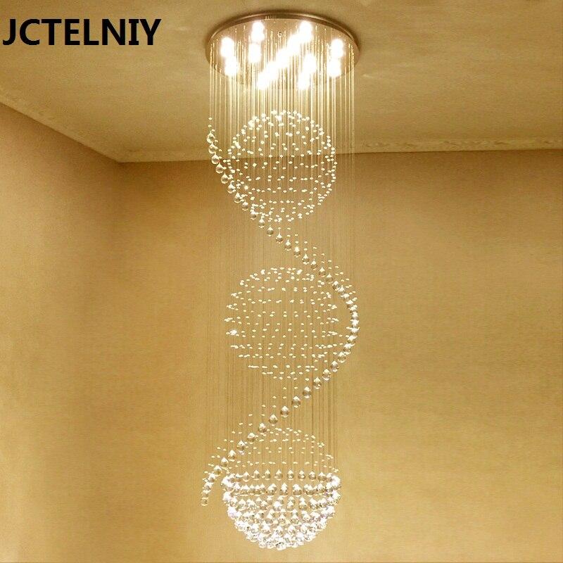 Cristal lumière grand pendentif lumière salon