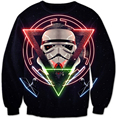 New Movie Star Wars Print 3D Sweatshirt Women Men Long Sleeve Outerwear Street Hipster Crewneck Pullovers Harajuku Sweatshirts