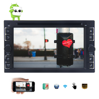 Android 6.0 Marshmallow 2G RAM Car DVD Player 6.2 Capacitive Touchscreen Car Stereo Double Din GPS Bluetooth Wifi Autoradio