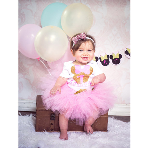 69c60907ef544 custom Minnies Mouse princess first birthday infant bodysuit onepiece Tutu  Dress romper Outfit Set baby shower party favors -in Party Favors from Home  ...