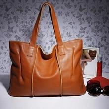 100% Genuine Leather Handbags Women Tote Bag Ladies Shoulder Bag Designers Brand Totes Bag Female Crossbody Bag LX01