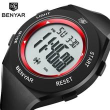 BENYAR Luxury Brand Men Watches Waterproof LED Digital Stopwatch Alarm