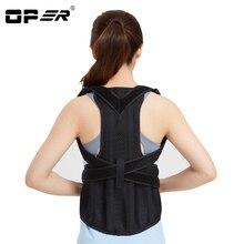 OPER Adjustable Posture Corrector Back Orthopedic Support Shoulder Brace Lumbar Support Waist Belt Men Women Corset Back Unisex