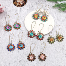 European and American new style rice pearl fringed Earrings fashionable personality lady sunflower handmade jewelry earrings