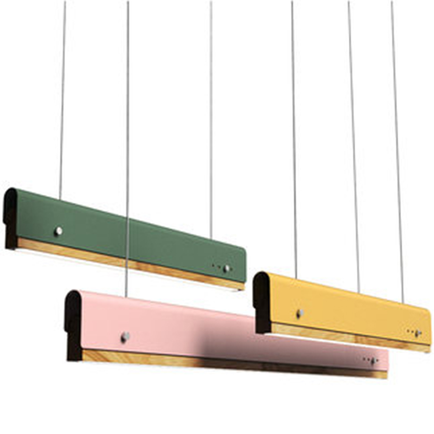 Nordic LED Pendant Lights Modern Office Multicolor Wooden Pendant Lamps Conference Room Hotel Front Desk Hanging Lamps LuminaireNordic LED Pendant Lights Modern Office Multicolor Wooden Pendant Lamps Conference Room Hotel Front Desk Hanging Lamps Luminaire