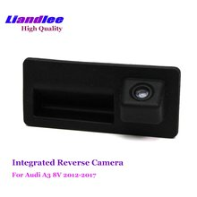 Liandlee For Audi A3 Hatchback 2003-2017 Car Rearview Reverse Camera Rear View Backup Parking Camera / Integrated Trunk Handle цена и фото