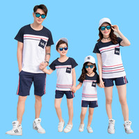 Family Loaded Summer 2019 Cotton Family Suit Matching Outfits Family Clothing