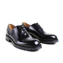 2017 Италия Для мужчин без каблука классический черный пользовательские мужские туфли-оксфорды торжественное платье партии Бизнес Свадебные Пояса из натуральной кожи оригинальные Дизайн