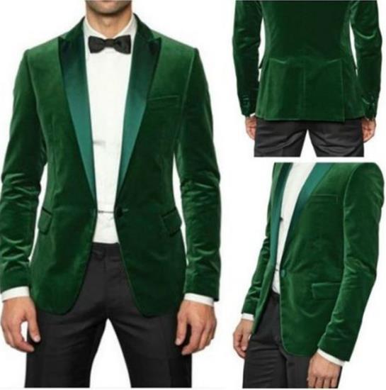 Noir veste custom As 2 Image The Vert Made De Slim Fit Velours Masculino Pcs Avec Personnalisé Terno Costumes Mens Costume Bal Marié Mariage Pantalon Pantalon Hommes HqApYp