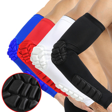 1PC Elbow Support Elastic Gym Sport Elbow Protective Pad Absorb Sweat Sport Basketball Arm Sleeve Elbow Anticollision Brace 1pc arm sleeve armband elbow support basketball arm sleeve breathable football safety sport elbow pad brace protector