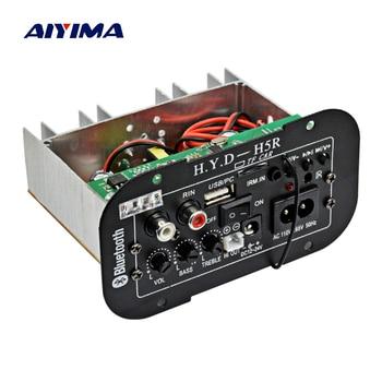 AIYIMA Subwoofer Amplifier Board Car Bluetooth Audio Amplifiers 12V 24V 220V For 5-8inch Speakers DIY 1