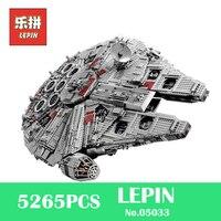 LEPIN 05033 5265Pcs 05028 05027 Star Ultimate Wars Collector S Millennium Falcon Building Blocks Bricks Toys