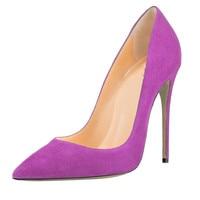 ARQA Women pumps Pointed toe Super high heels Red Black high heeled Big size 34 48 Spring Autumn Flock Thin heels Rubber Sale