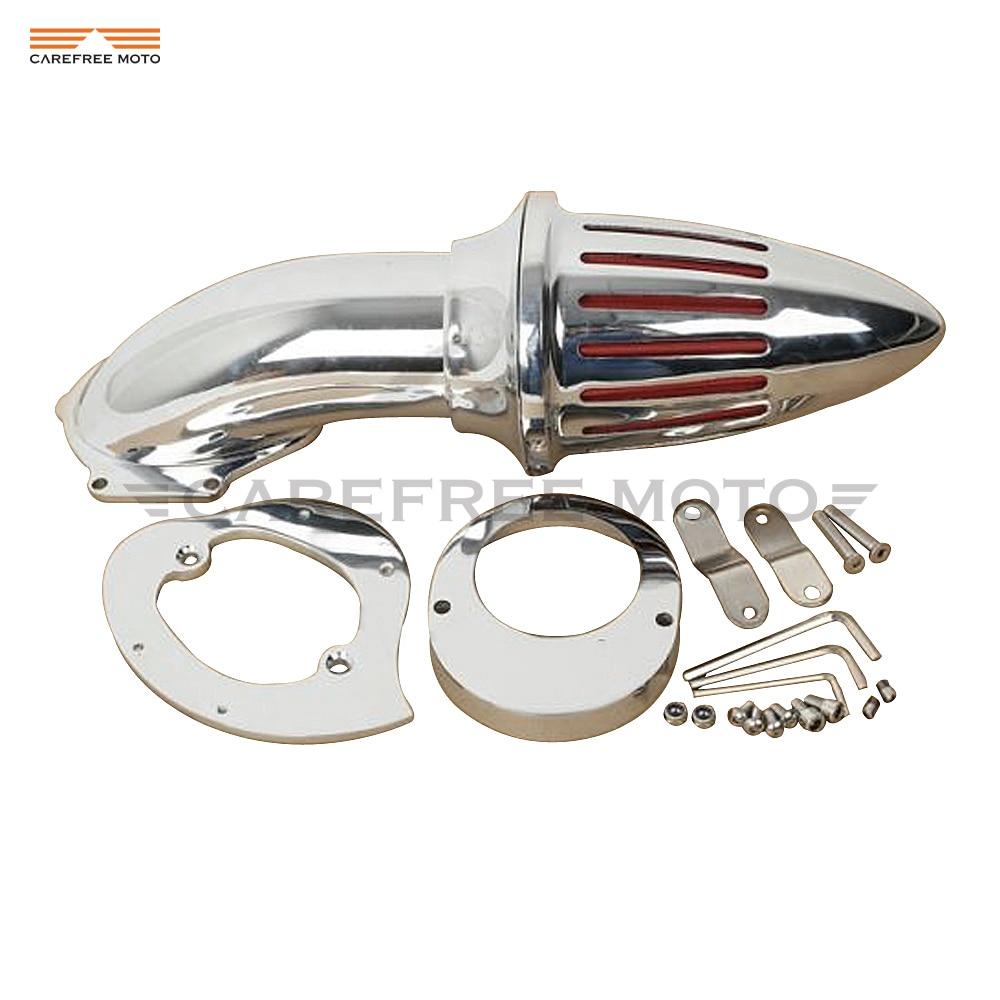 Chrome Motorcycle Spike Air Cleaner Kits Intake Filter case for Yamaha Vstar V-Star 650 1986-2012