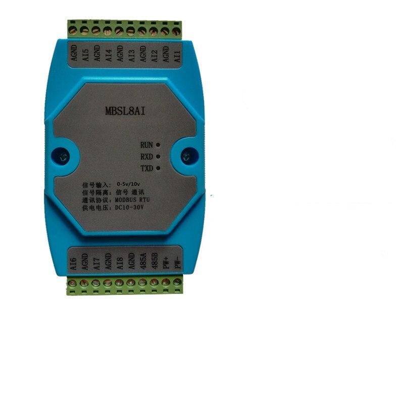 0 5/10 в 8 канальный Аналоговый Входной изоляционный модуль сбора Modbus RTU коммуникация RS485